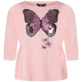 GUESS GuessPink Sequin Butterfly Top