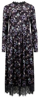 Dorothy Perkins Womens Girls On Film Multi Colour Floral Print Lace Skater Dress, Multi Colour