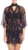 Hanky Panky Alexandra Three-Quarter Sleeve Lace Robe