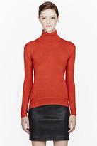 Carven Orange knit Turtleneck