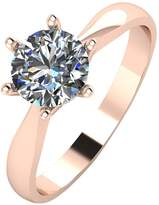 Moissanite 9ct Rose Gold 1 Carat Solitaire Ring
