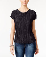 NY Collection Petite Crinkle Top