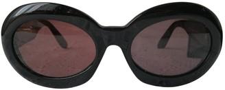 Diane von Furstenberg Black Plastic Sunglasses