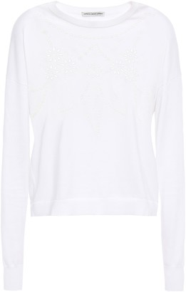 Autumn Cashmere Cotton By Broderie Anglaise Cotton Sweater