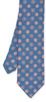 J.Mclaughlin Italian Linen & Silk Tie in Medallion