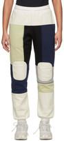 Gr Uniforma GR-Uniforma White and Navy Patchwork Lounge Pants