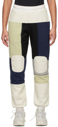 GR-Uniforma White and Navy Patchwork Lounge Pants