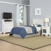 Home Styles Naples 3-Piece Twin Headboard, Nightstand and Media Chest Set in White