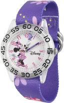 Disney Minnie Mouse Girls Purple Strap Watch
