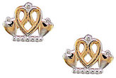 Disney Princess Tiara Stud Earrings, 14K Gold