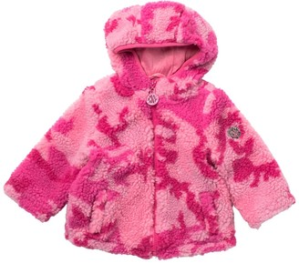 DKNY Camo Print Plush Fleece Jacket