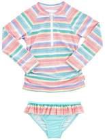 Seafolly Girls Toddler Candy Pop Long Sleeve Rashie Set