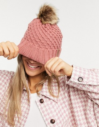Roxy Blizzard beanie in pink