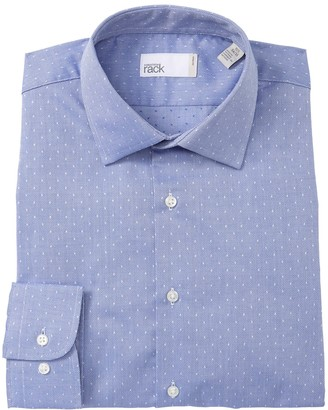 Nordstrom Rack Trim Fit Micro Dotted Dobby Dress Shirt