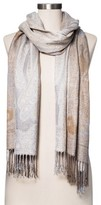 Merona Fashion Scarves Jacquard Gold Cream