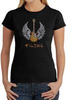 Freebird Women's Word Art T-Shirt in Black