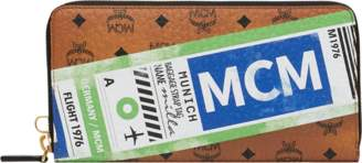 MCM Wristlet Zip Wallet In Flight Print Visetos