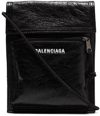 Balenciaga Explorer Arena cracked leather messenger bag