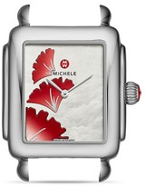 Michele Deco 16 Ginko Dial Watch Head, 29 x 31mm