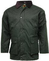 Forever Mens Stylish Waterproof British Quilted Wax Rain Jacket