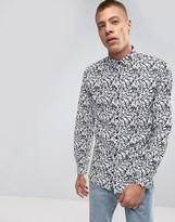 Lindbergh Camo Print Shirt Slim Fit in Black