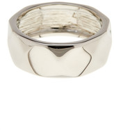 Ariella Collection Faceted Metal Band Ring