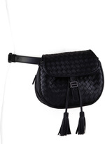 Bottega Veneta Intrecciato Small Belt Bag, Black