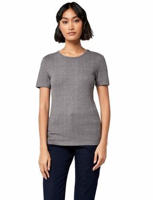Meraki Amazon Brand Women's Rib Crew Neck T-Shirt