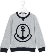 Moncler anchor sweatshirt - kids - Cotton/Acrylic/Wool - 5 yrs