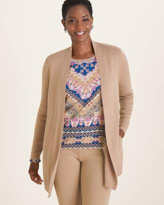 Chico's Chicos Woven-Back Cardigan