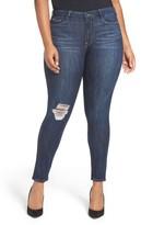 Good American Women's Good Legs Ripped Skinny Jeans