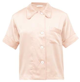 Araks Shelby Silk-charmeuse Pyjama Shirt - Womens - Beige