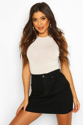 boohoo Western Style Denim Mini Skirt