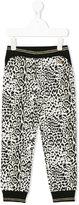 Roberto Cavalli leopard print trousers - kids - Cotton/Polyamide/Polyester/metal - 3 yrs