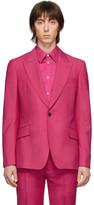 Alexander McQueen Pink Wool Selvedge Blazer