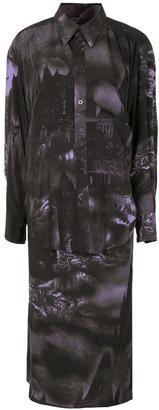 Y's Gothic Print Shirt Dress