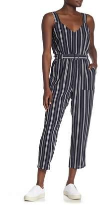 Cotton On Jillian Striped Sleeveless Belted Woven Jumpsuit