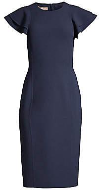 Michael Kors Women's Flutter Sleeve Sheath Dress