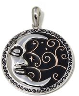 "Michael Anthony Jewelry Stainless Steel ""Moon"" Pendant with Prayer"