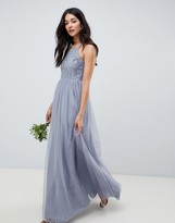 Asos Design DESIGN delicate embellished strappy maxi dress