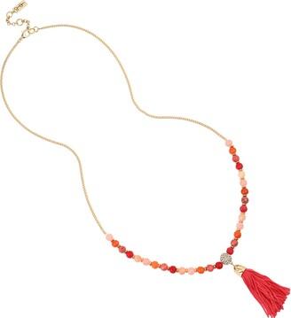 Jessica Simpson Tassel Pendant Long Necklace