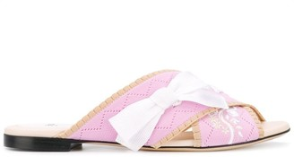 Fendi flat sandals