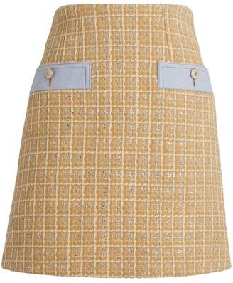 Sandro Paris Tweed Mini Skirt