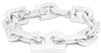Balenciaga B-plaque Chain Bracelet - Womens - Silver