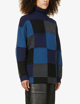 Givenchy Oversized patchwork cashmere jumper