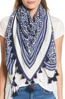 Rebecca Minkoff Women's Floral Tassel Scarf