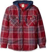 Dickies Men's Quilted Flannel with Fleece Hood