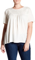 Susina Embroidered Yoke Shirt (Plus Size)