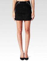 Paige Elsie Skirt - Black Suede