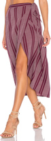 Band of Gypsies Pin Stripe High Low Midi Skirt